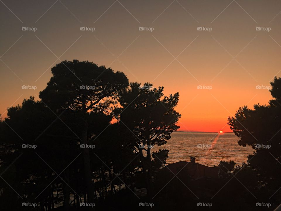 Sunset on Adriatic Coast