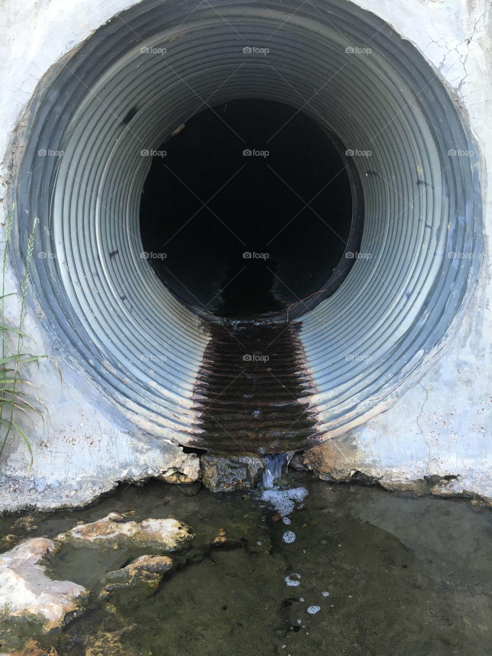 Storm drain.