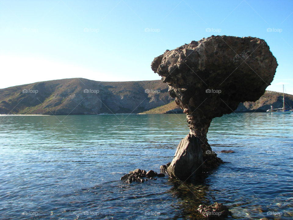 Balandra Beach. Beautiful Beach, place to kayaking, snorkelling or walk in the sea.