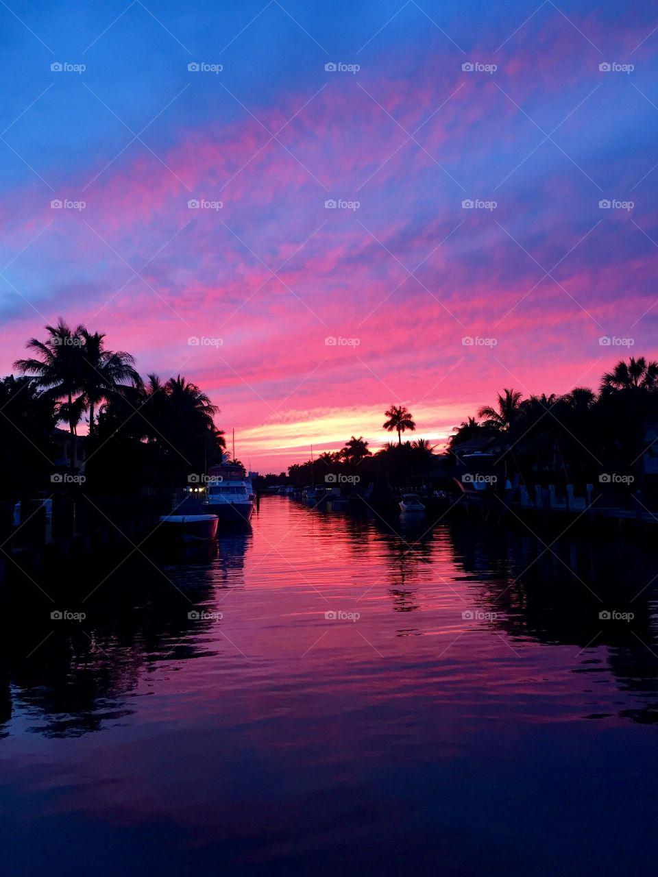 Beautiful sunset.  Ft. Lauderdale, FL