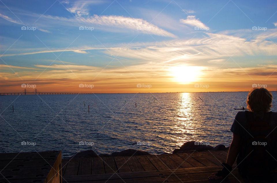 Sunset, Dawn, Water, Evening, Dusk