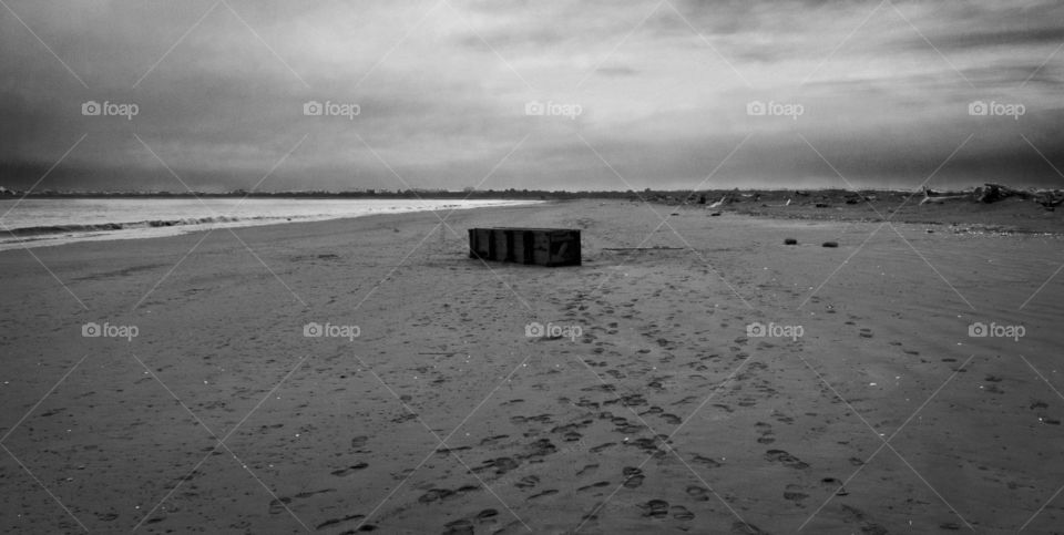 Walking along Damon Point beach in Ocean Shores I happened upon this piece of pier. At the time all sorts of debris was coming ashore from the tsunami that so tragicly hit Japan, that I felt the only way to photograph it was in black and white.