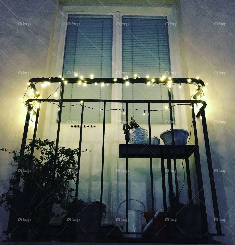 Lights in balcony