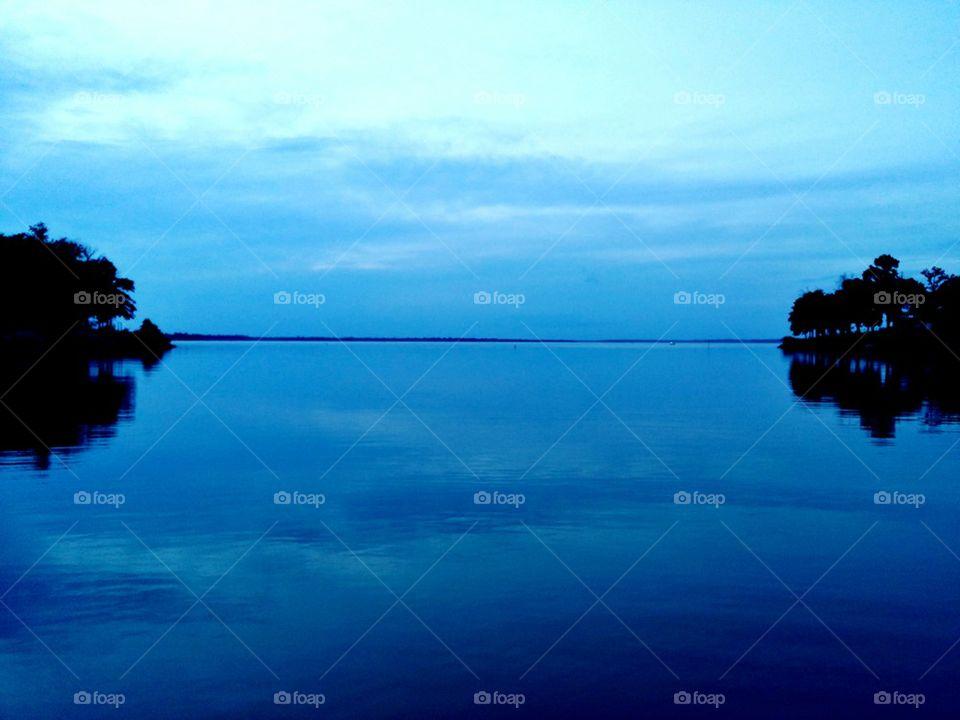 Lake of glass