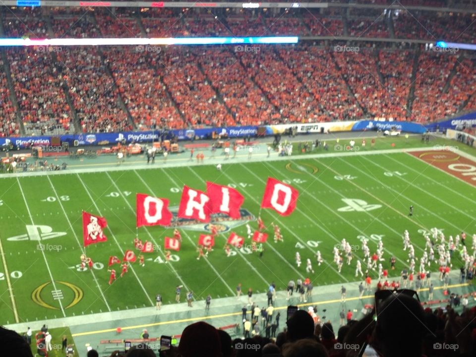 Ohio state Buckeye cheerleaders