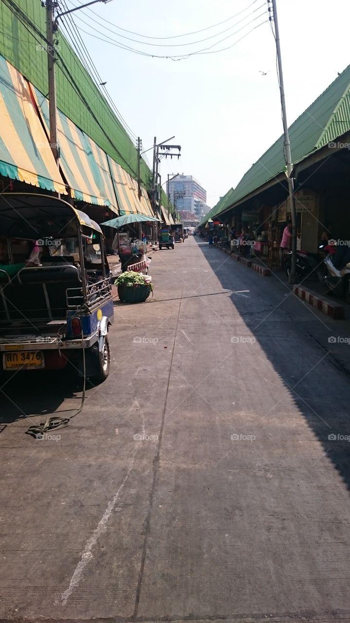 Morning market . food market, bangkok