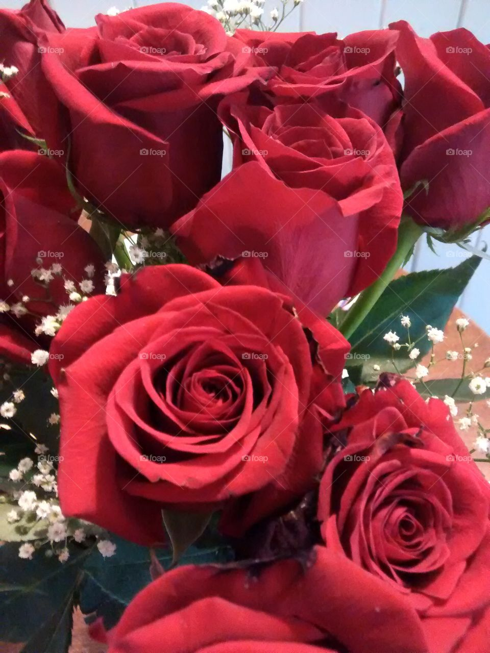 red roses for Mom. Red roses tell mom you love her on mother's day... or any other day! Works for boyfriends and husband too!