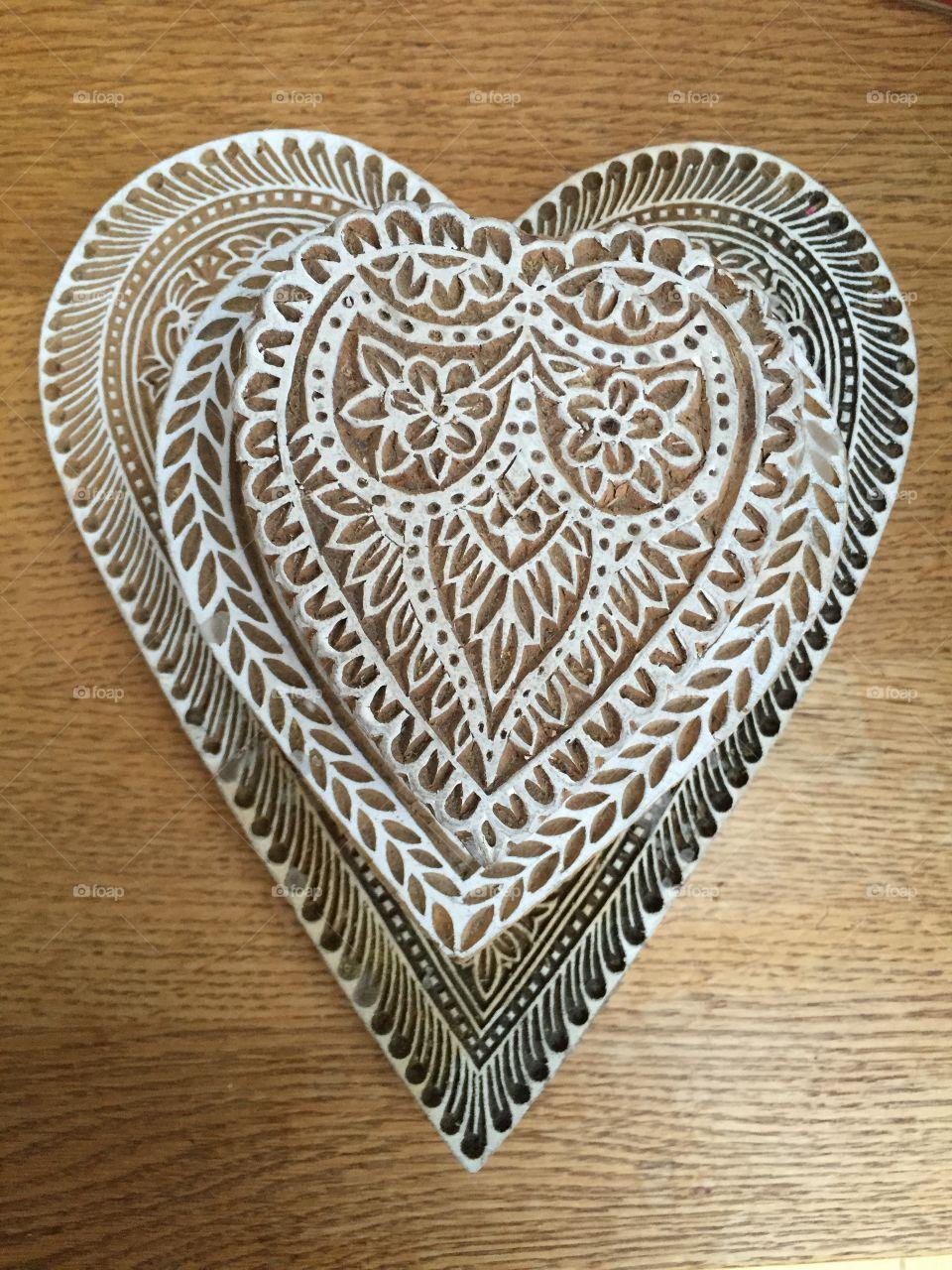 Heart carvings