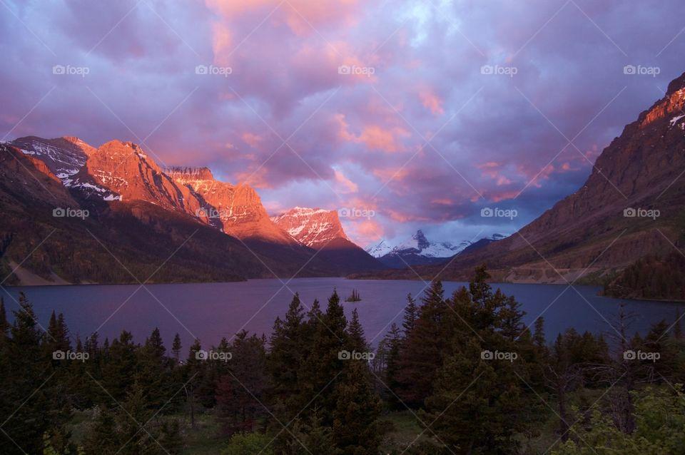 View of Glacier National Park, USA