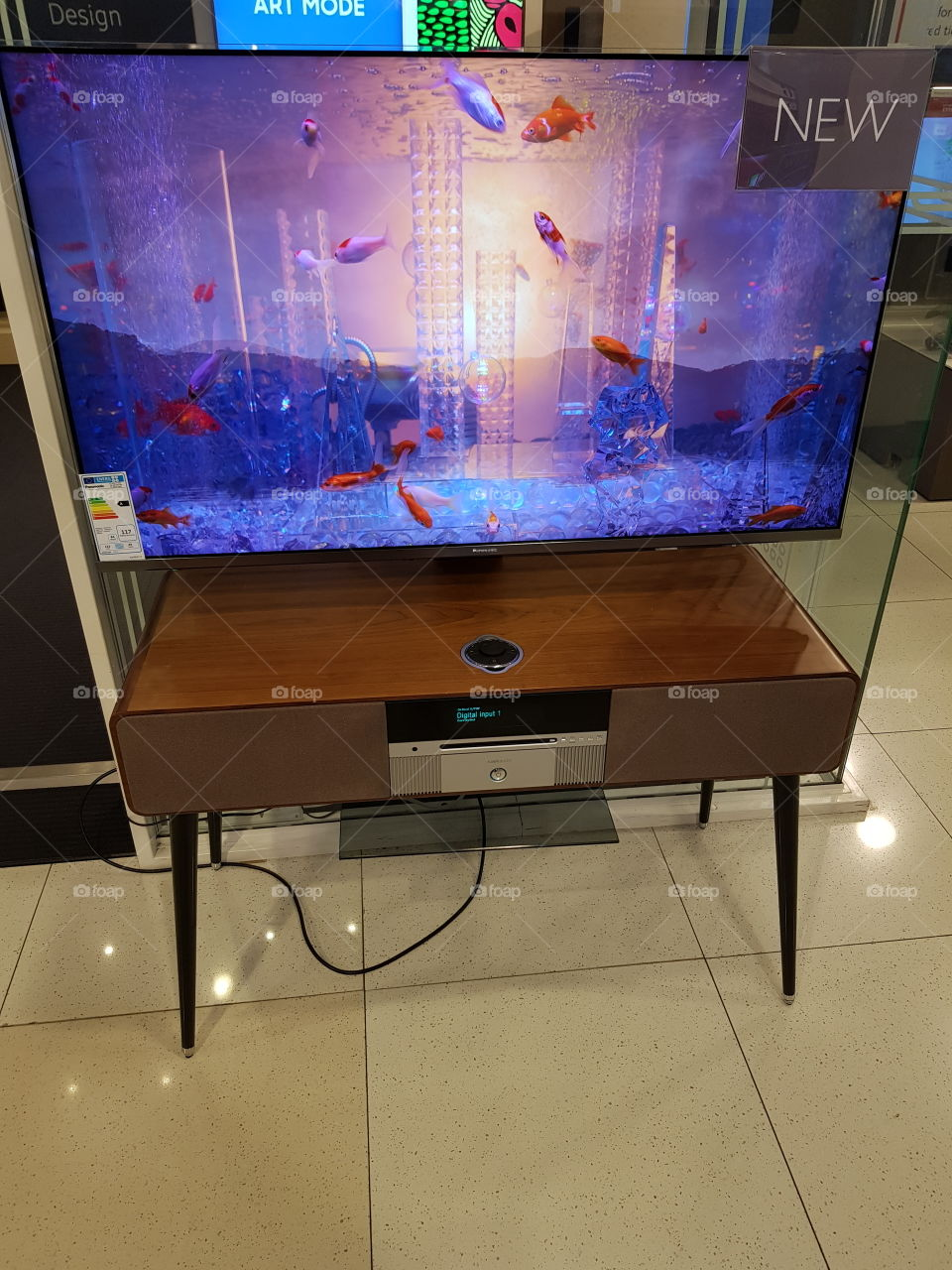Panasonic and Ruark audio display at Peter Jones department store Sloane square Chelsea Kings road London store Sloane square Chelsea Kings road London