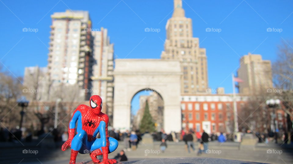 Spider-man sighting in NYC