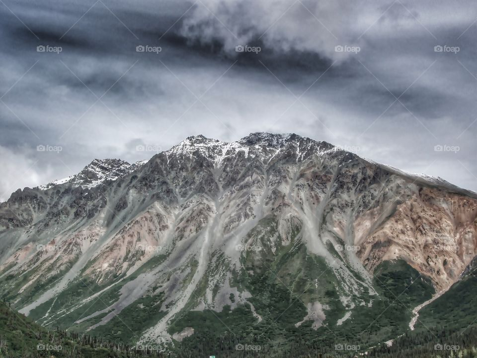 Stormy Clouds Over Rainbow Mountain
