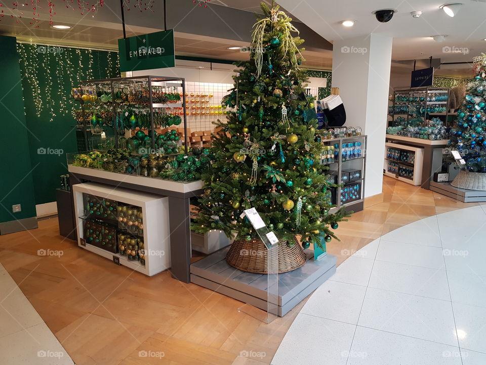 Christmas shop at Peter Jones Sloane square Chelsea King's road London