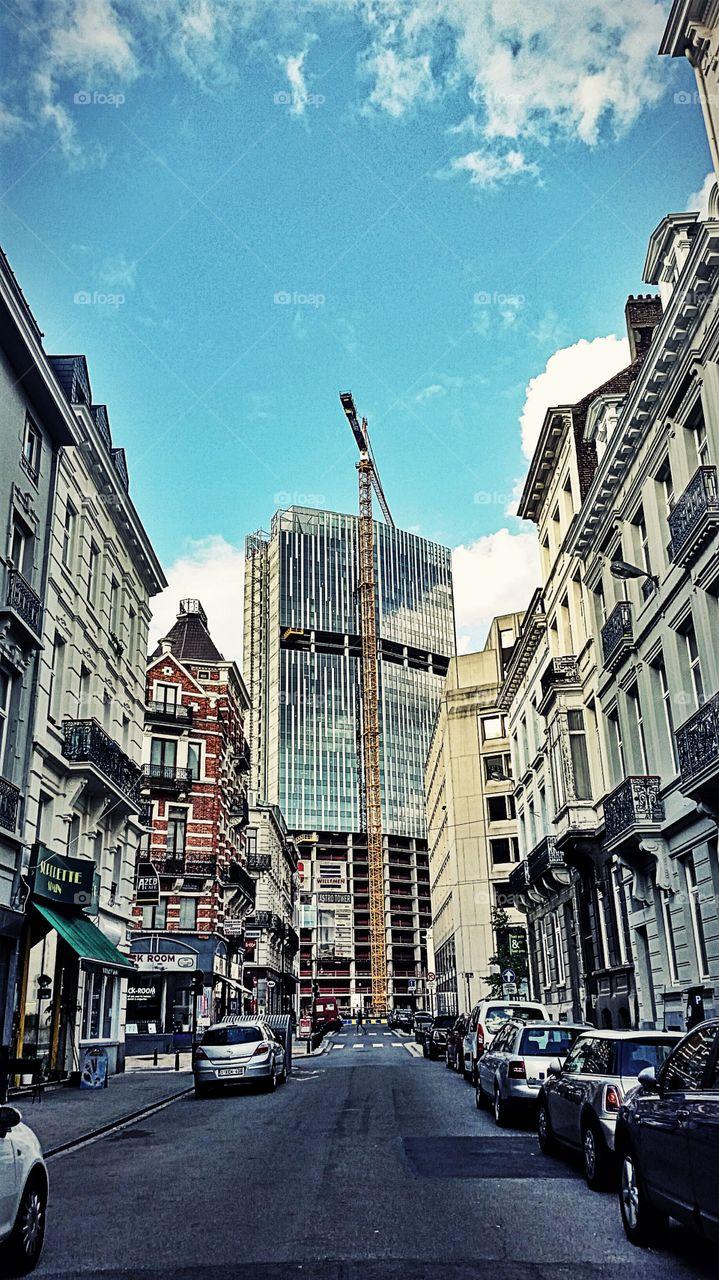The construction. raising cities