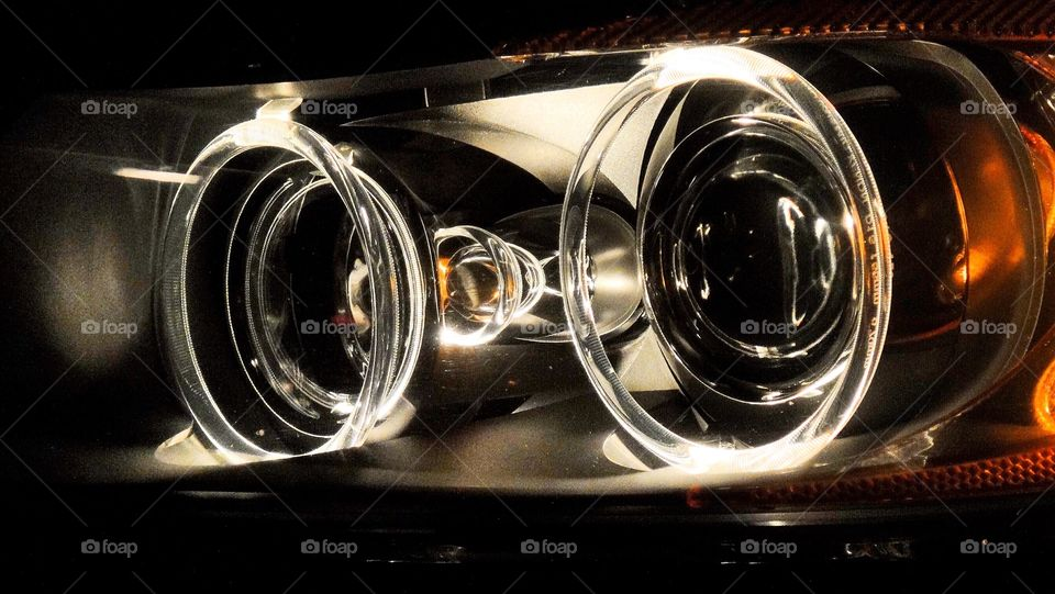 Headlights looking eyes. Xenon makes great headlights! They move and adjust as you steer!
