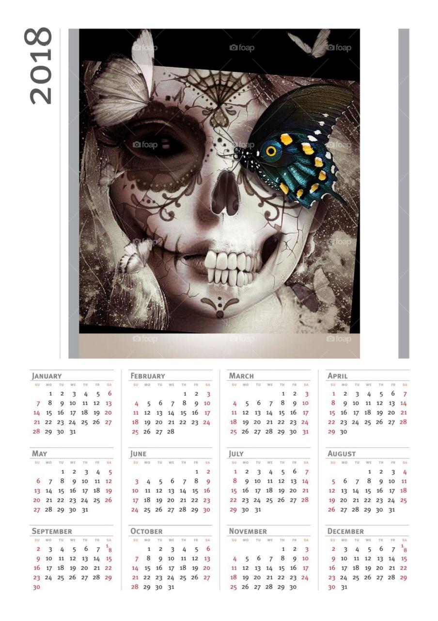 Date, Calendar, Illustration, Time, Monthly