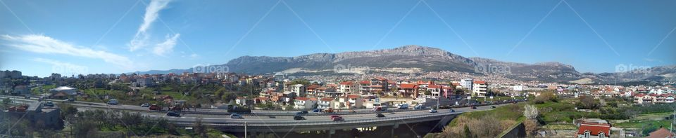 View from the Shopping Mall in the City of Split
