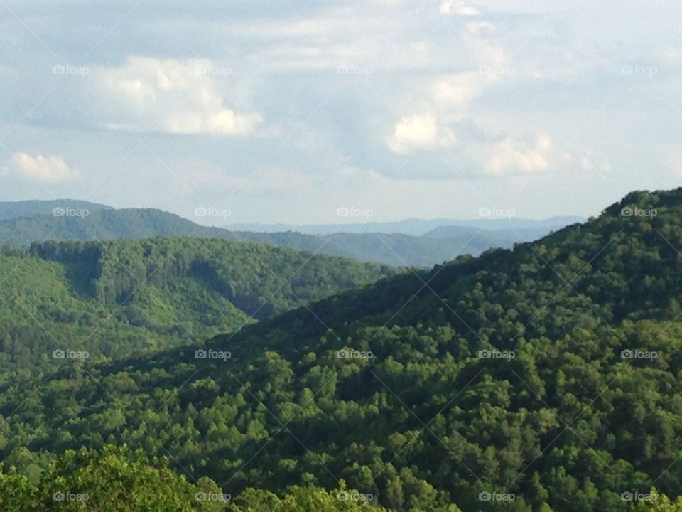 Panoramic view of the Appalachian Mountains.