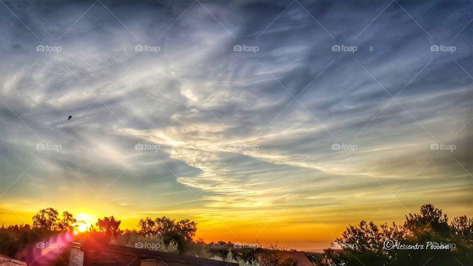 sky landscape cloud sun