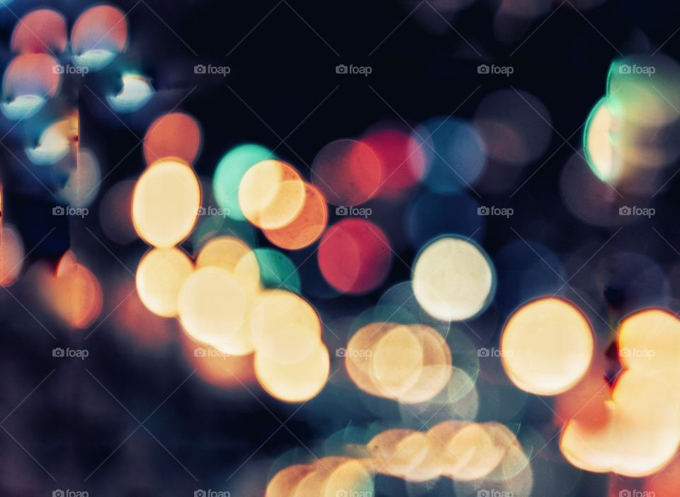 Happy new year ,bokeh light in happy night