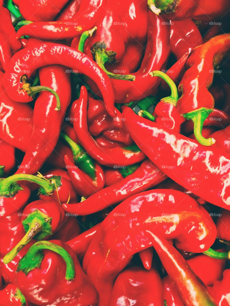 Peppers! . Red and spicy!