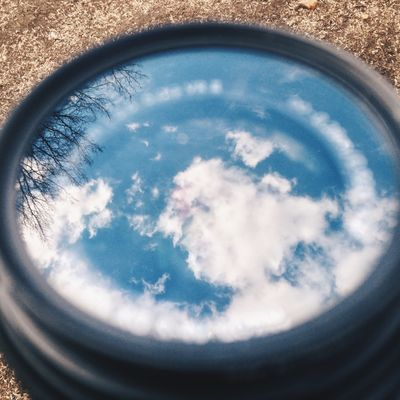 Sky reflection lens
