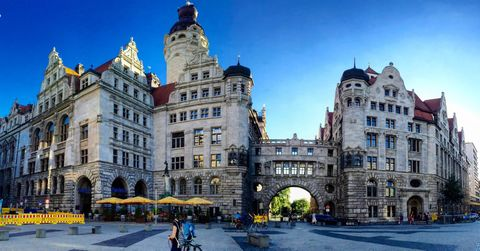 View of New town hall, Leipzig, Germany
