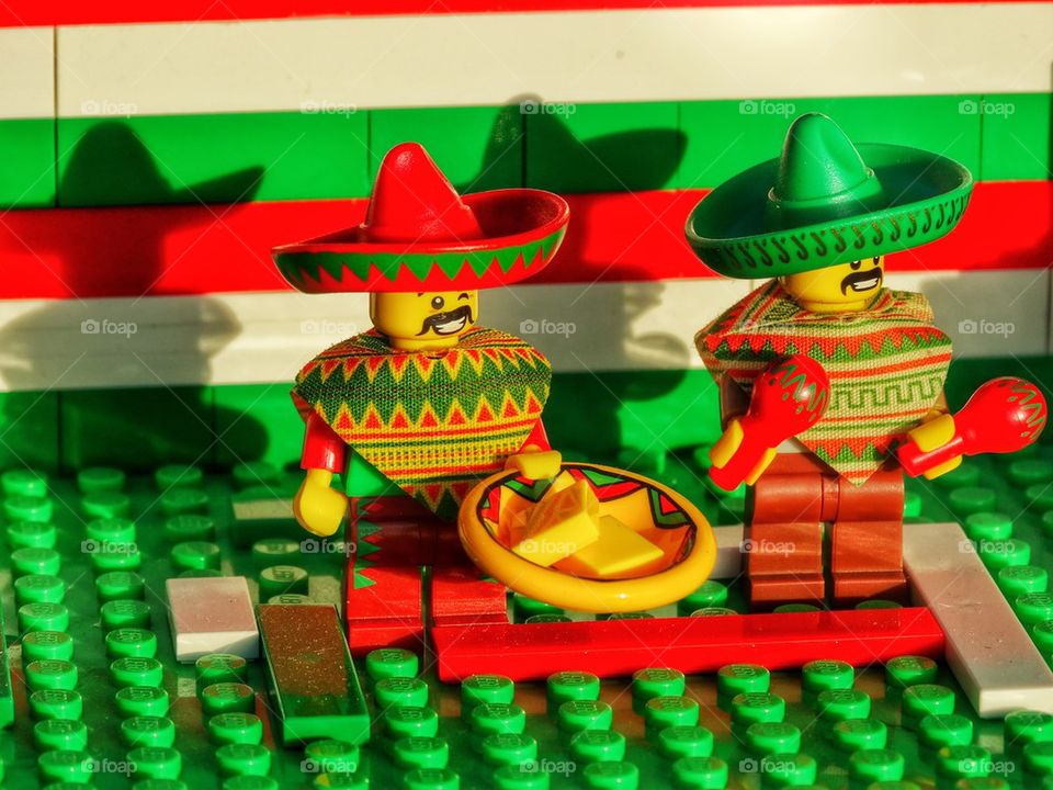 Colorful Lego Mariachis