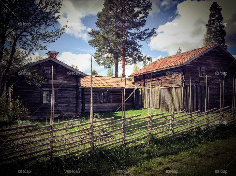 Sweden orbaden. Old swedish farm