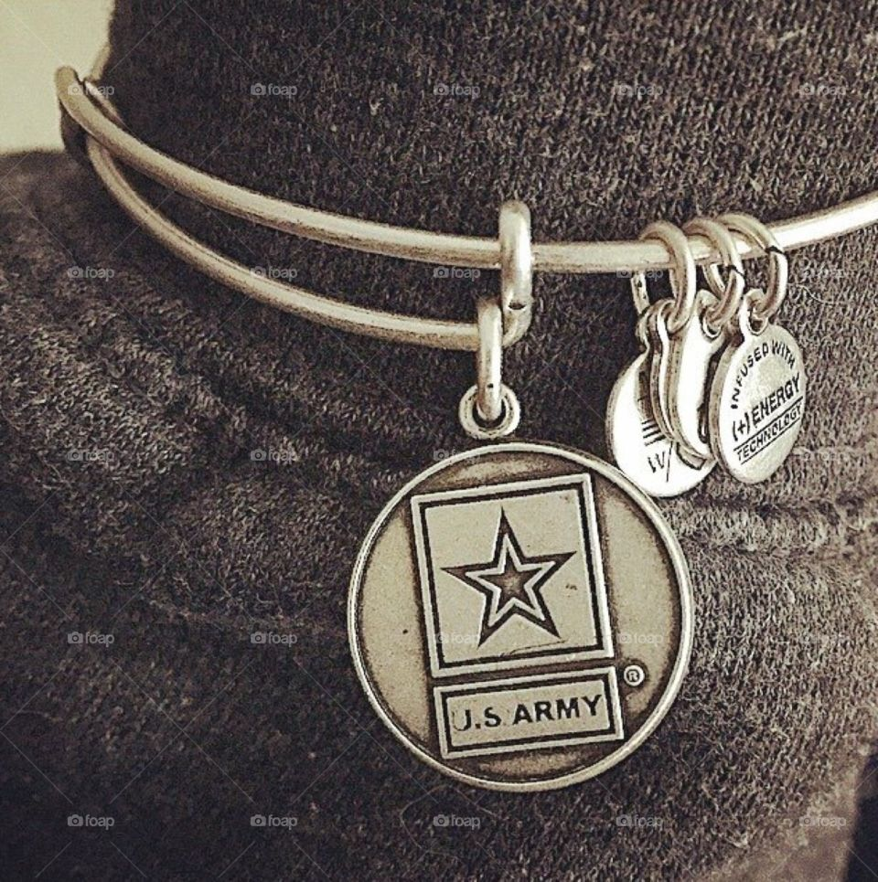 Support Our Troops. Alex and Ani U.S. Army bangle in silver. Support our troops!