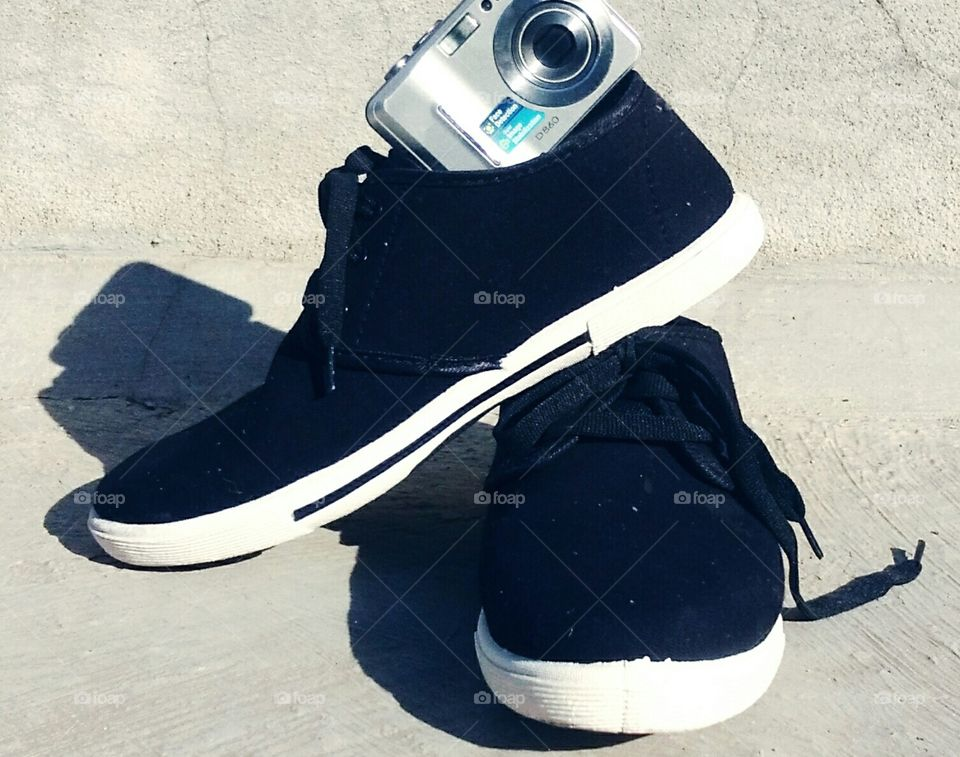 Camera and shoe's