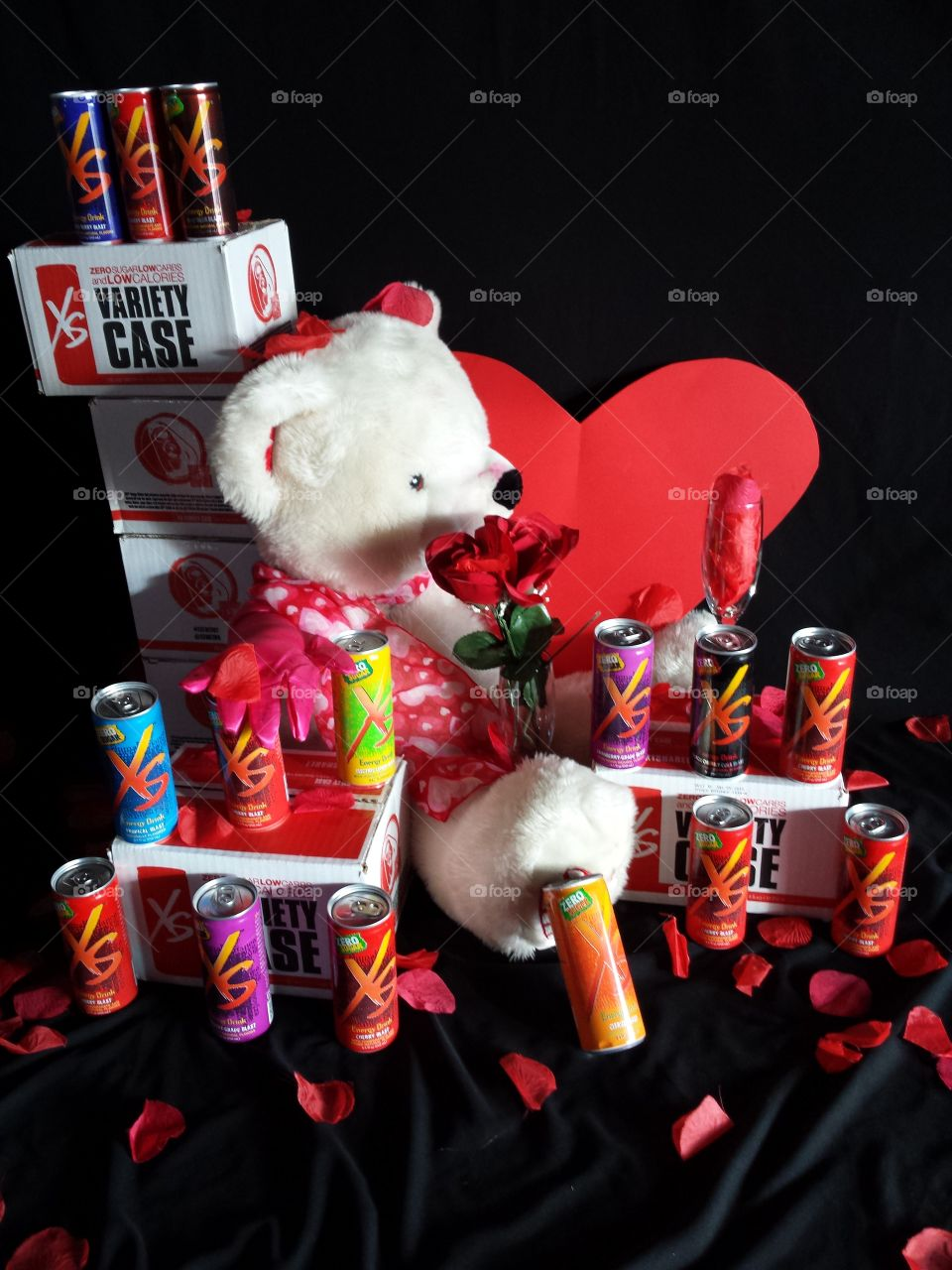 A bear-ly XS energy Valentines