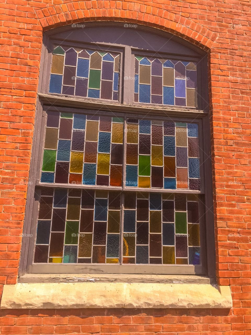 Windows of stained glass
