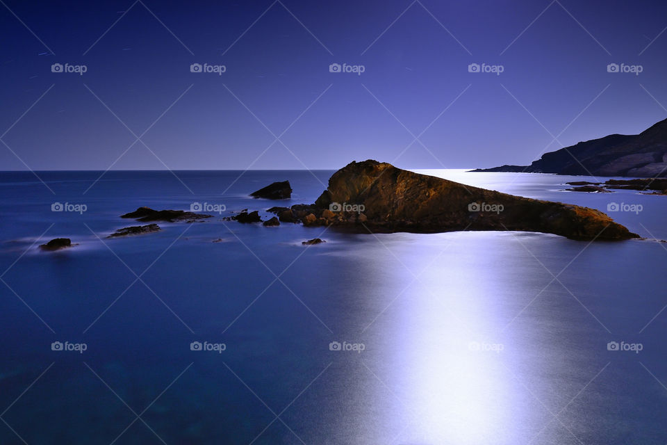 Island . Lonely island in the Mediterranean sea. Spain