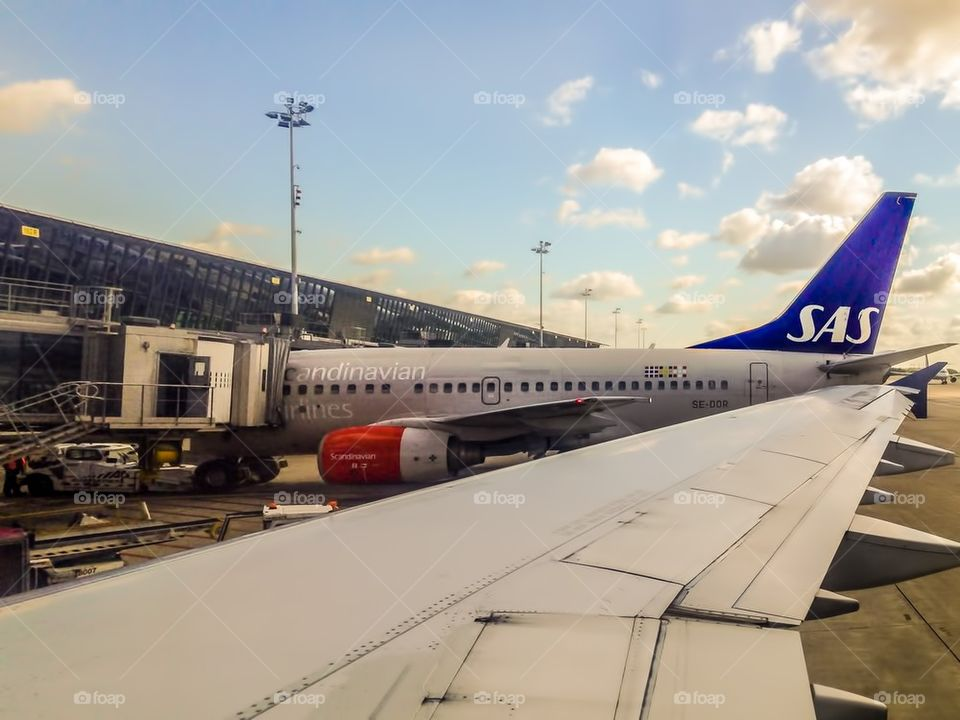 Sas at airport in Brussels