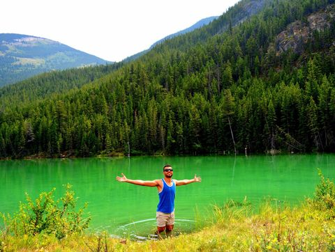 Jasper National Park. The incredible opportunity for sightseeing in the Canadian Rockies.