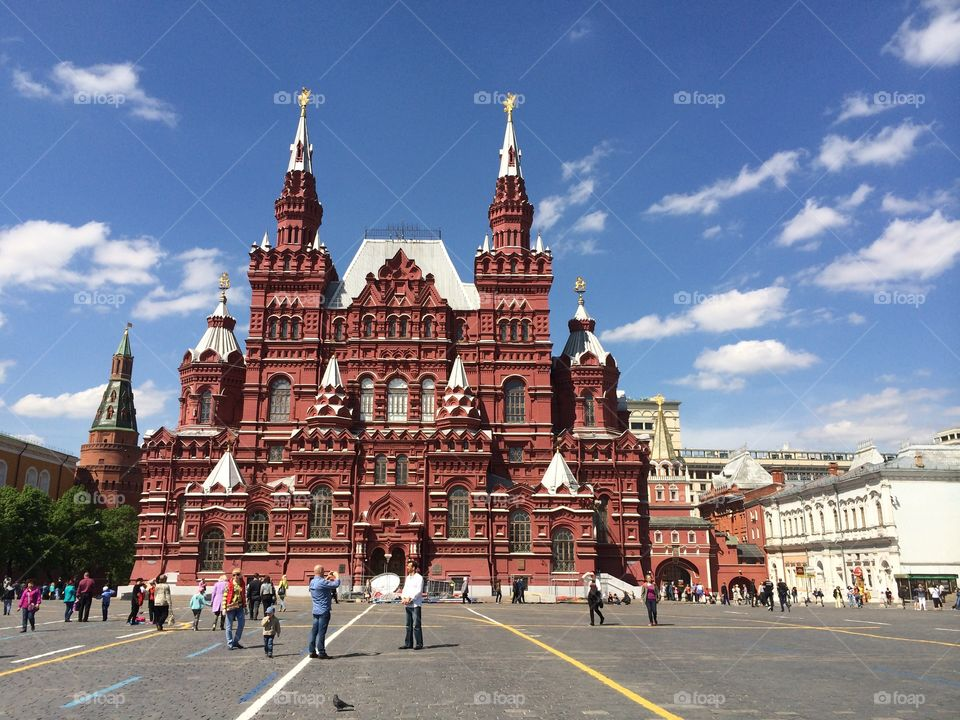 Old red building at Moscow red square
