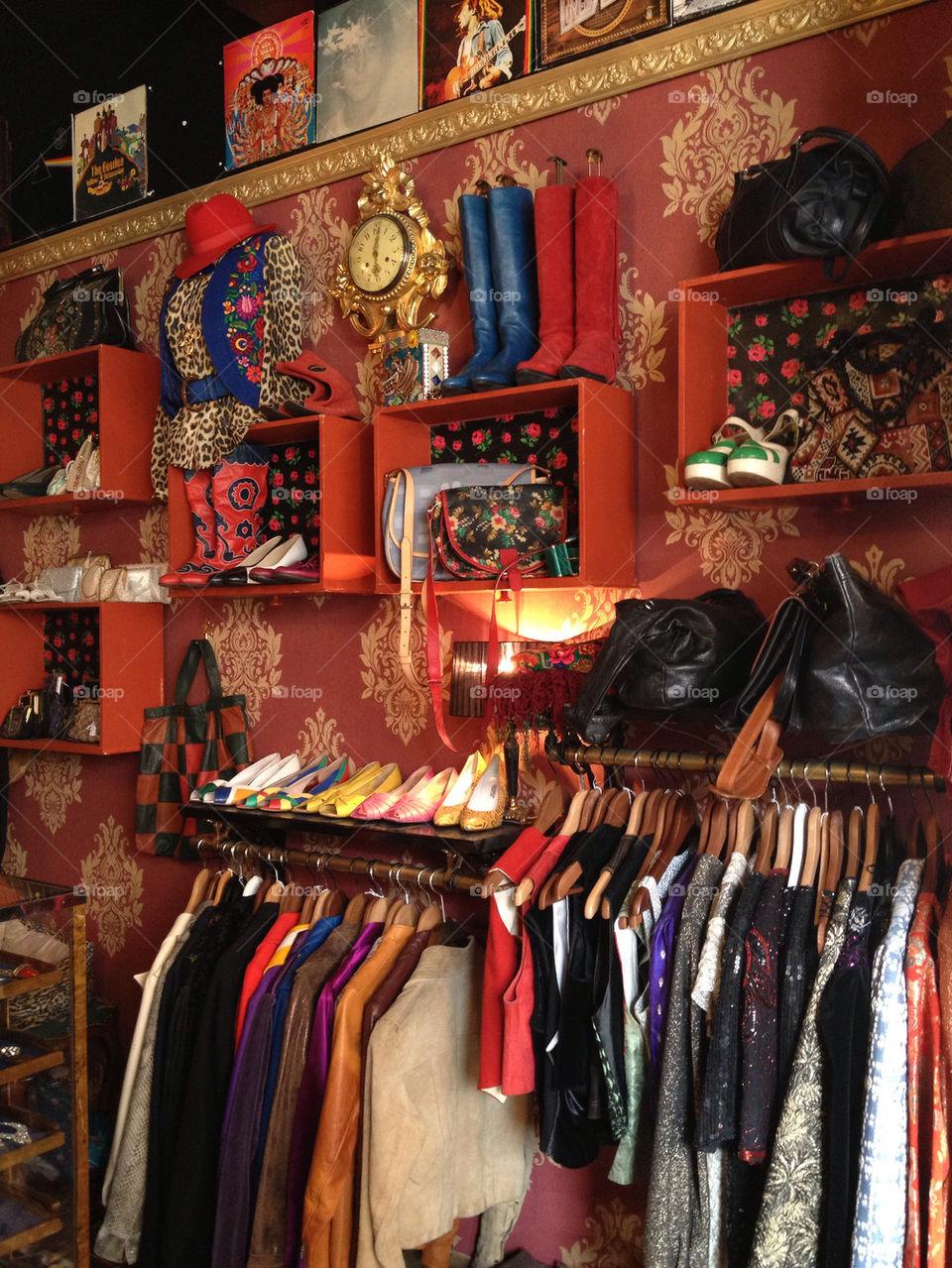 Vintage shop.