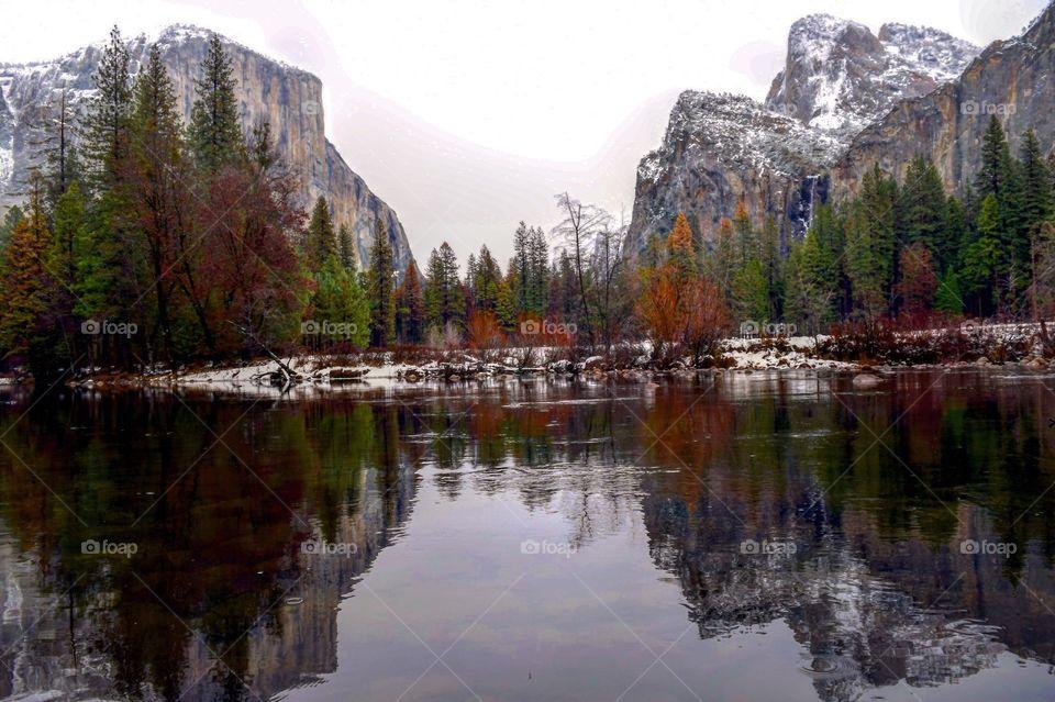 Yosemite in the winter