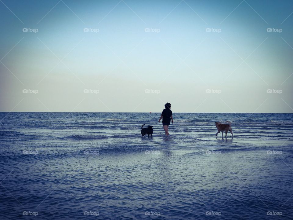 Romantic holiday vacation on tropical sandy beach seaside during sunset in southern Thailand - colorful ocean theme background