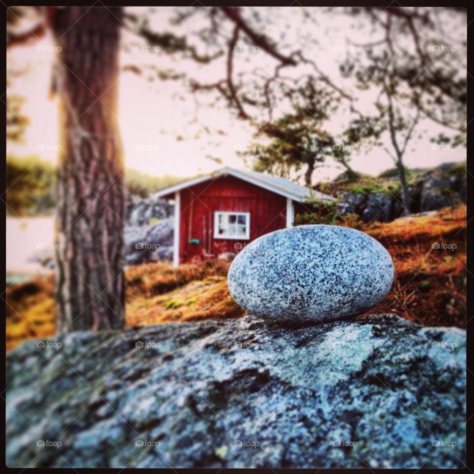 stone archipelago boathouse stockholm by Johannes