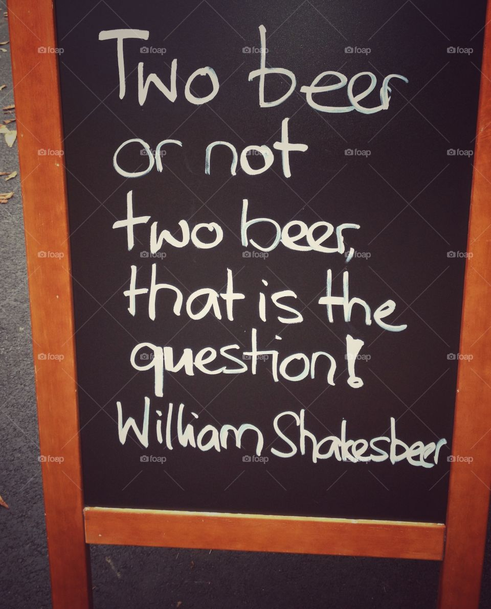 Two beer or not.... two beer that is the question - cheers