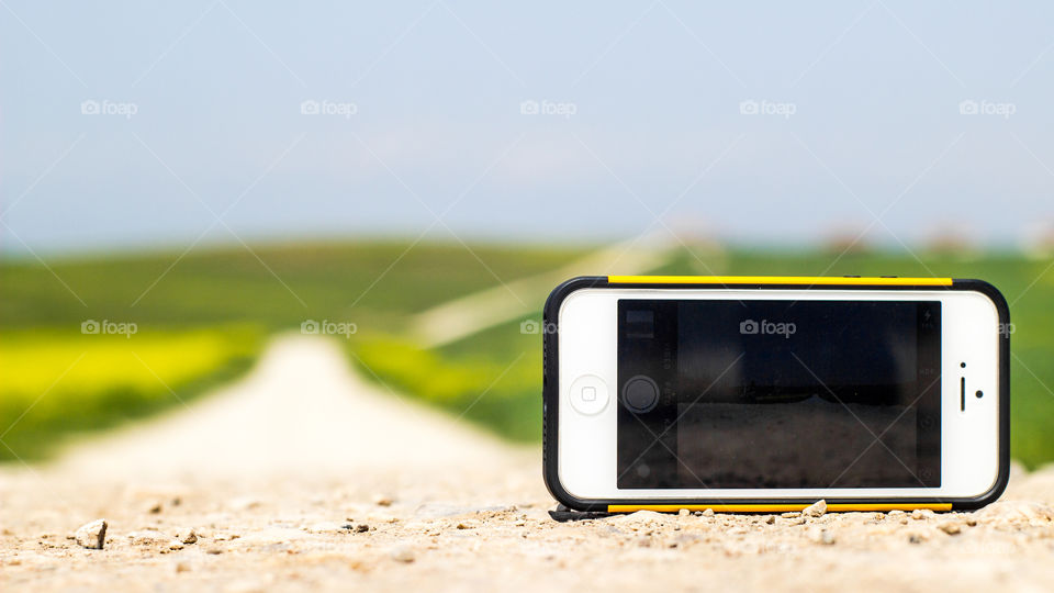 Mobile phone on the road