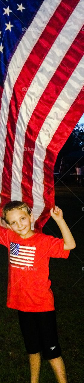 Fourth of July with flag