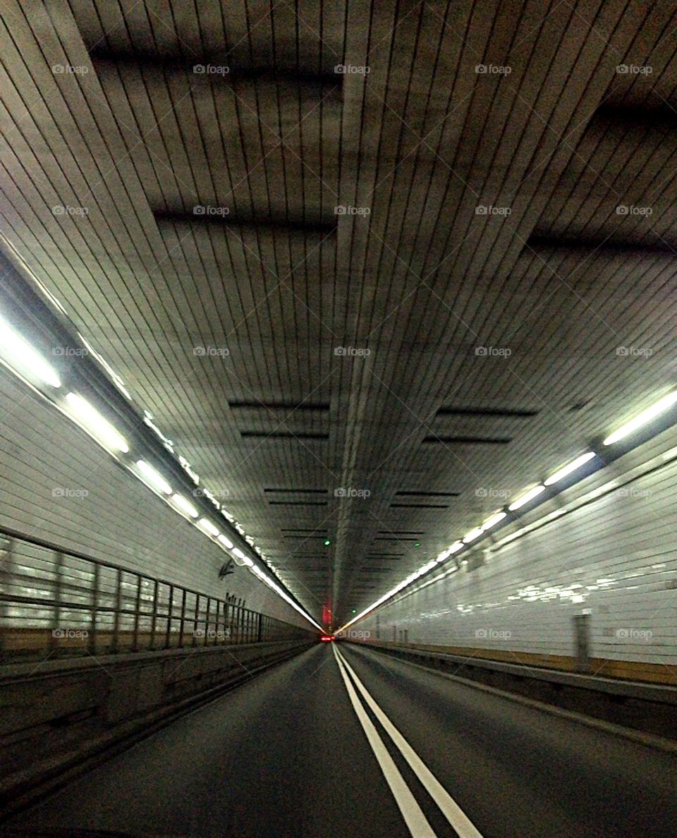 Holland Tunnel . New Jersey to New York through Holland tunnel