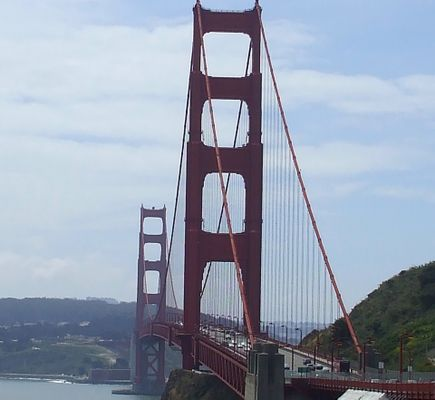 particular view of the golden gate bridge