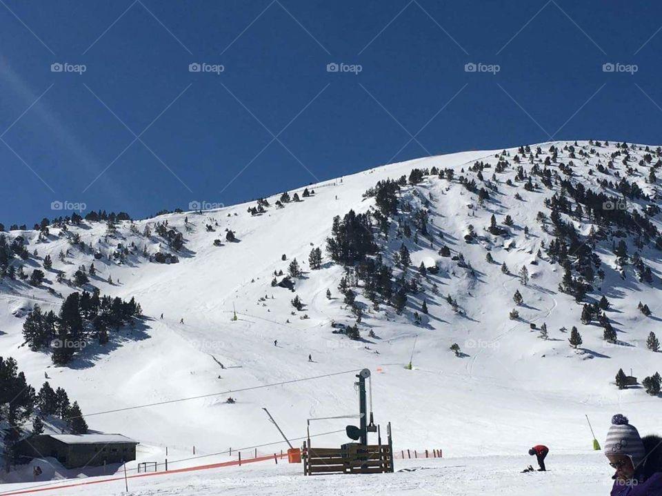 Profile of the mountain