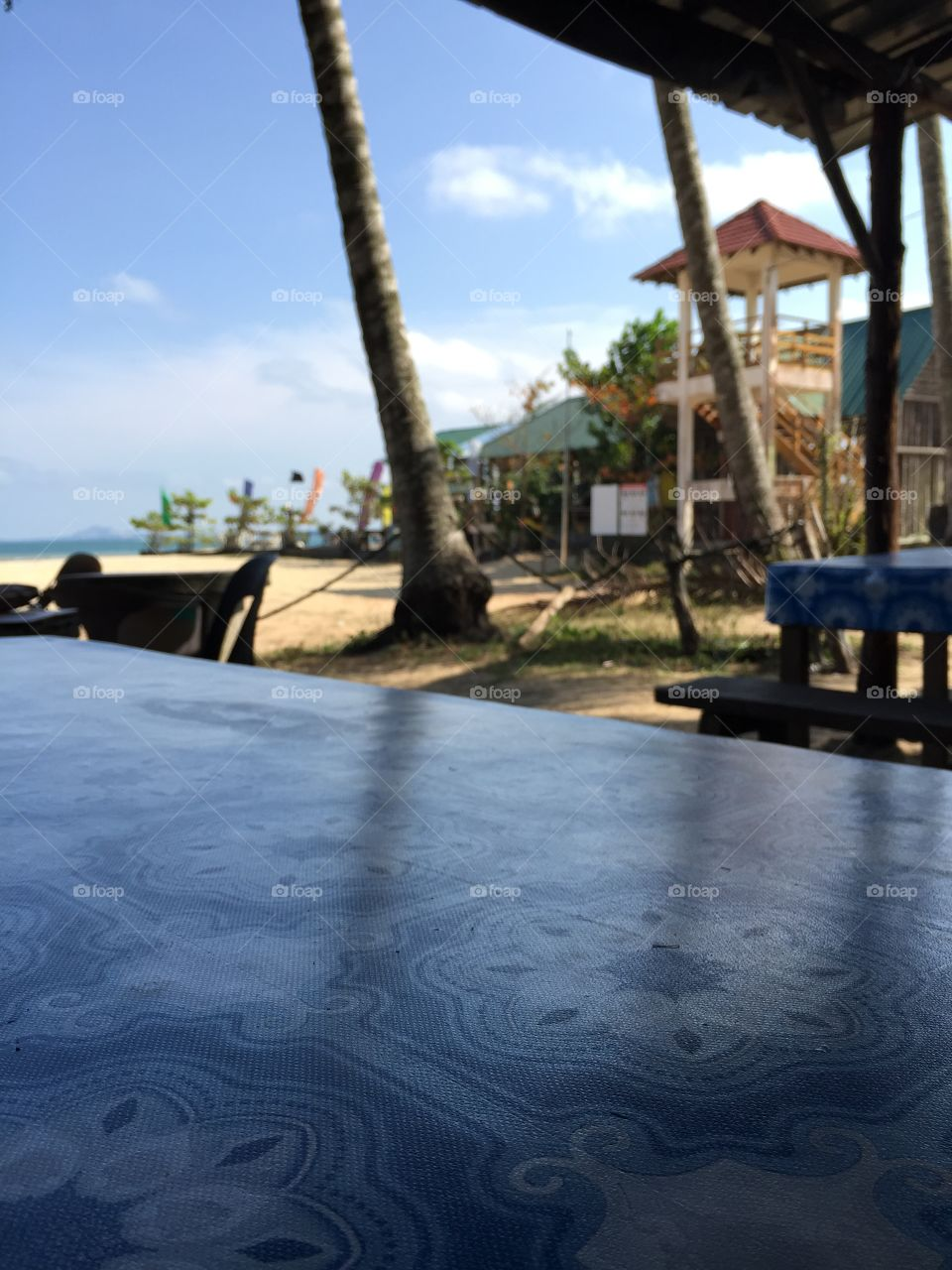 Coffee by the beach. Cherating, Malaysia