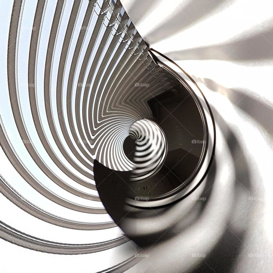 Abstract background of spiral staircase