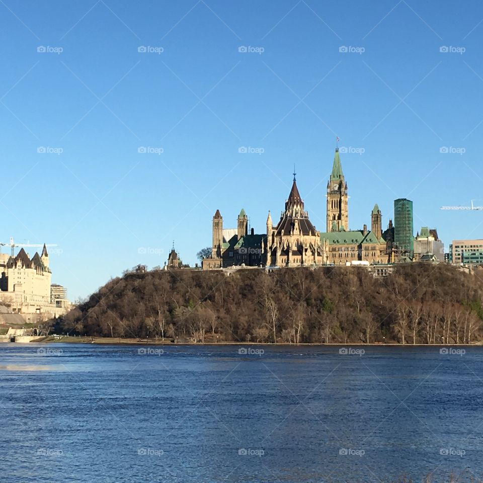 Parliament building and library, Ottawa, Canada